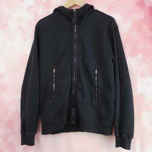 CP Company Soft Shell Hoodie Goggle Jacket Black